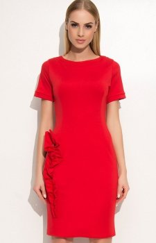 Makadamia M350 sukienka czerwona