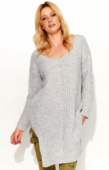 Makadamia S49 sweter szary
