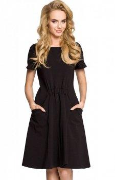 Moe M316 sukienka czarna
