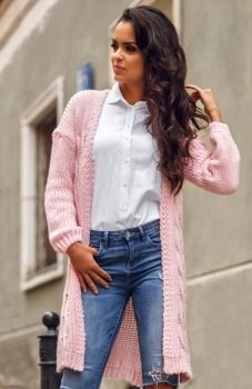 Envy Me EM607 sweter pudrowy róż