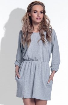 FIMFI I174 sukienka szara