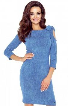 Bergamo 69-04 sukienka niebieska