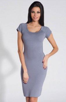 *Fobya F287 sukienka szara