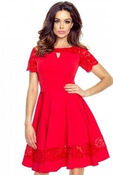 Bergamo 59-01 sukienka czerwona