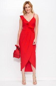 Makadamia M396 sukienka czerwona