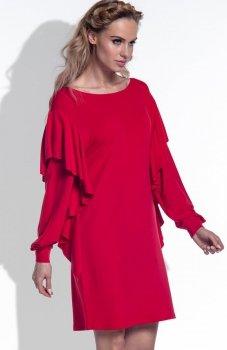 FIMFI I173 sukienka czerwona