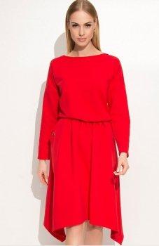 Makadamia M342 sukienka czerwona