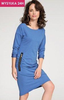 *Numinou NU25 sukienka niebieska
