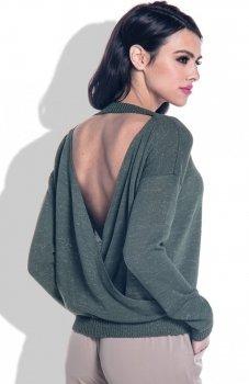 Fobya F361 sweter oliwkowy