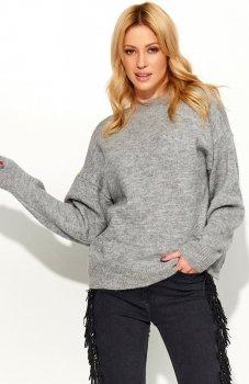 Makadamia S58 sweter szary