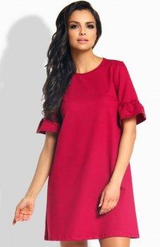 Lemoniade L188 sukienka bordowa