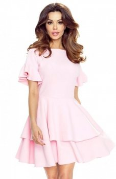 Bergamo 62-01 sukienka pastelowy róż