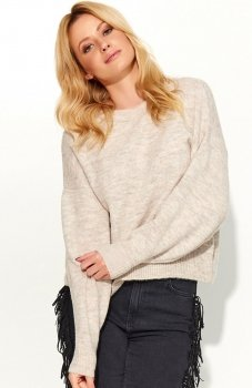 Makadamia S58 sweter beżowy