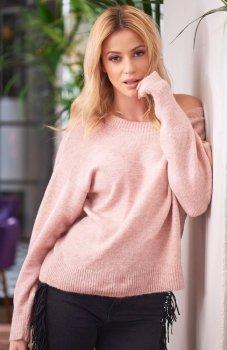 Makadamia S58 sweter różowy