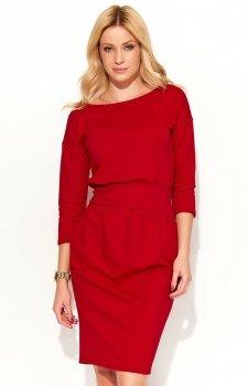 Makadamia M376 sukienka czerwona