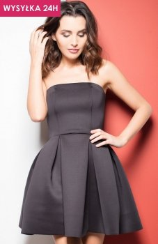 *Katrus K223 sukienka czarna