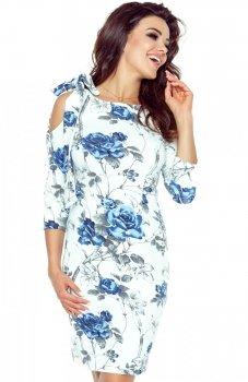 Bergamo 69-06 sukienka gałązka chaber