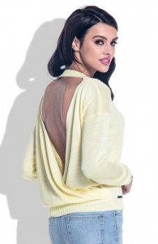 Fobya F361 sweter żółty