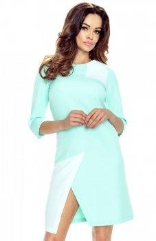 Bergamo 61-02 sukienka miętowa