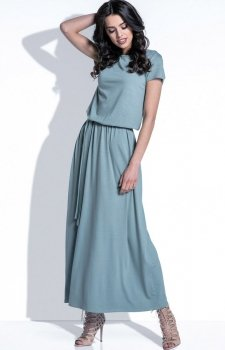 *Fobya F396 sukienka oliwkowa