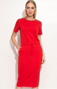 Makadamia M345 sukienka czerwona