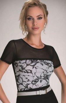 Eldar Maisa Ecru-Czarna bluzka