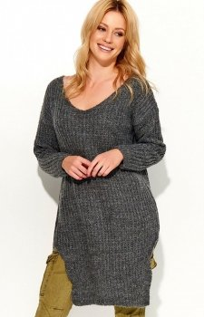 Makadamia S49 sweter grafitowy