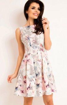 Awama A165 sukienka jasne kwiaty