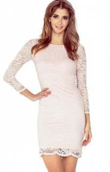Numoco 145-4 sukienka brzoskwiniowa