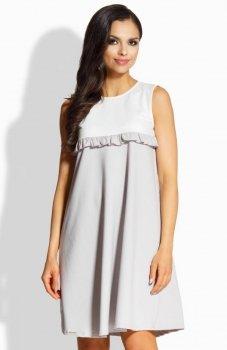 Lemoniade L215 sukienka ecru-szary