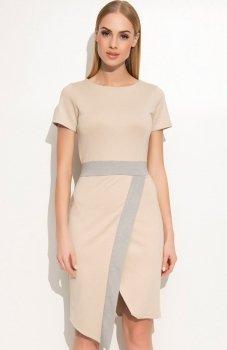 Makadamia M355 sukienka beżowa