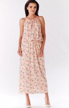 Awama A184 sukienka różowa