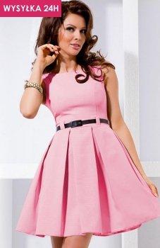 *SAF 6-5 sukienka pudrowy róż