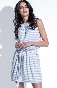 Fobya F406 sukienka szara