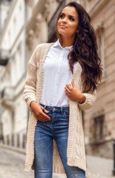 Envy Me EM607 sweter beżowy