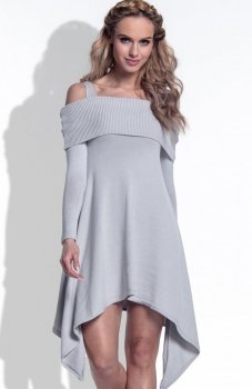 FIMFI I172 sukienka szara