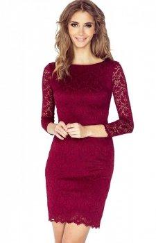 Numoco 145-2 sukienka bordowa