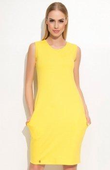 Makadamia M361 sukienka żółta