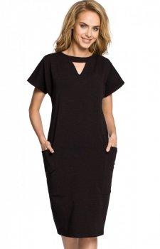 Moe M317 sukienka czarna