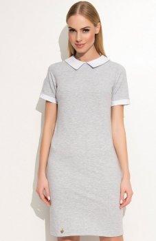 Makadamia M353 sukienka szara