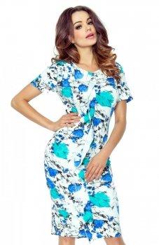 Bergamo 55-07 sukienka błękitna