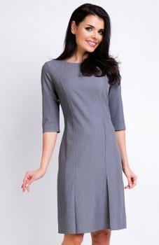 Awama A158 sukienka szara