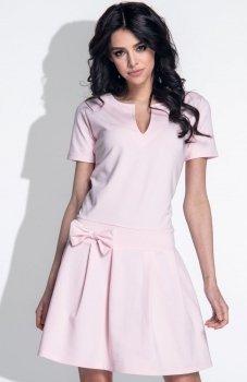 Fobya F374 sukienka pudrowy róż