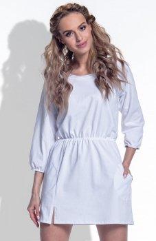 FIMFI I174 sukienka biała
