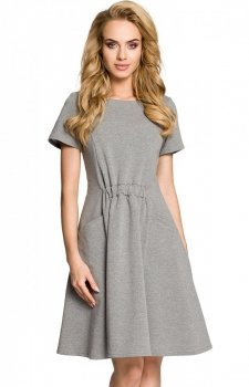 Moe M316 sukienka szara