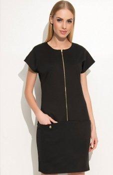 Makadamia M346 sukienka czarna