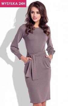 *Fobya F334 sukienka cappucino
