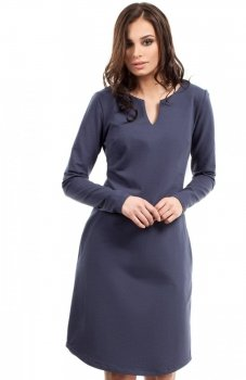 BE B017 sukienka niebieska