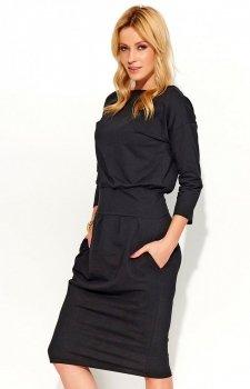 Makadamia M376 sukienka czarna