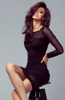 Ivon 207 sukienka czarna